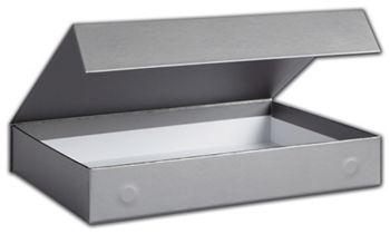 Silver Malibu Magnetic Boxes, 10 13/16 x 7 3/16 x 1 19/32
