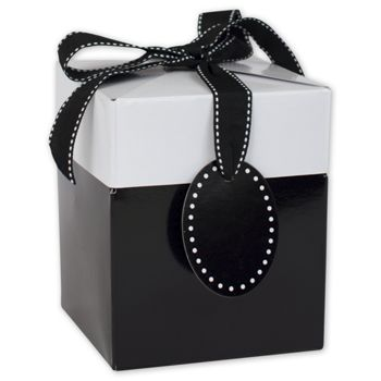 Black Tie Giftalicious Pop-Up Boxes, 4 x 4 x 4 3/4