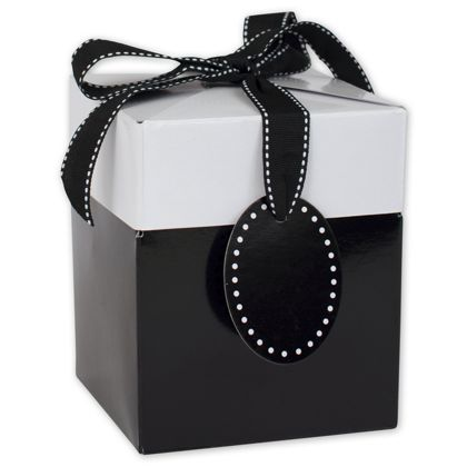 Black Tie Giftalicious Pop-Up Boxes, 4 x 4 x 4 3/4""