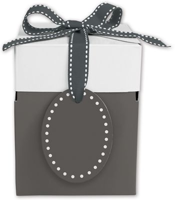 Grad Grey Giftalicious Pop-Up Boxes, 4 x 4 x 4 3/4
