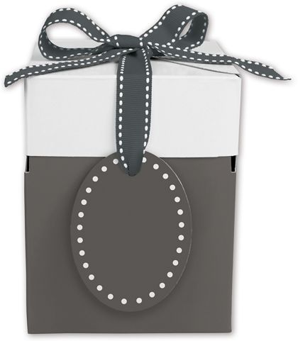 Grad Grey Giftalicious Pop-Up Boxes, 4 x 4 x 4 3/4""