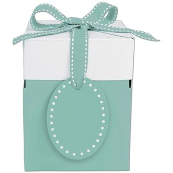 Bottoms-Up Blue Giftalicious Pop-Up Boxes, 4 x 4 x 4 3/4