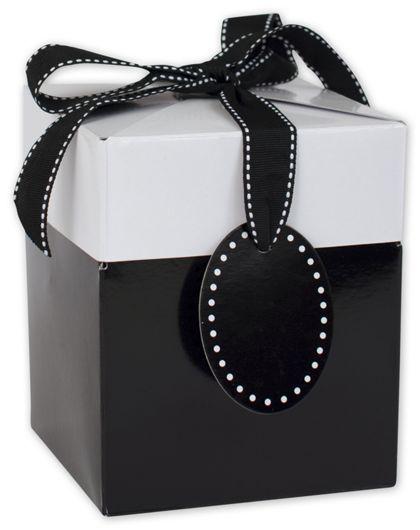 "Black Tie Giftalicious Pop-Up Boxes, 5 x 5 x 6"""