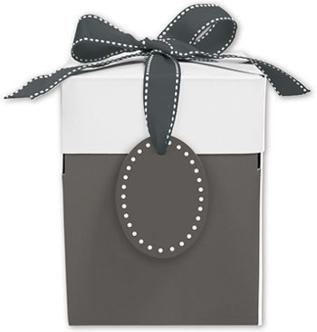 Grad Grey Giftalicious Pop-Up Boxes, 5 x 5 x 6