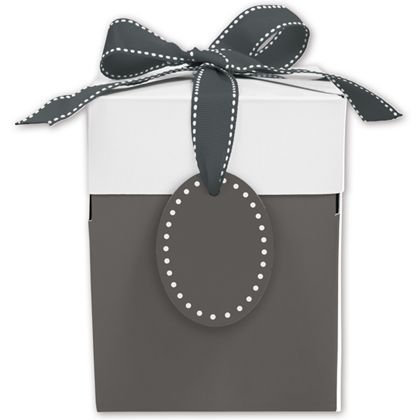 Grad Grey Giftalicious Pop-Up Boxes, 5 x 5 x 6""