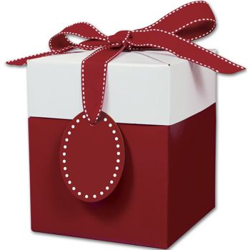 Ruby Red Giftalicious Pop-Up Boxes, 5 x 5 x 6