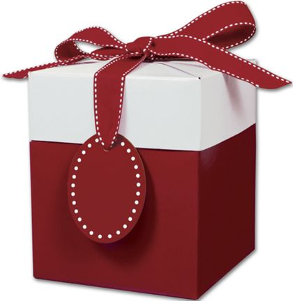 Ruby Red Giftalicious Pop-Up Boxes, 5 x 5 x 6""