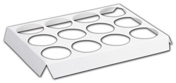 White 12-Hole Tin Inserts 7 1/8x5 3/8x3/4