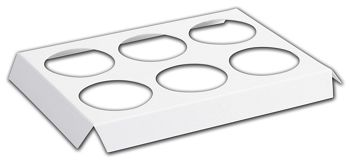 White 6-Hole Tin Inserts, 10 3/4x7 1/8x1