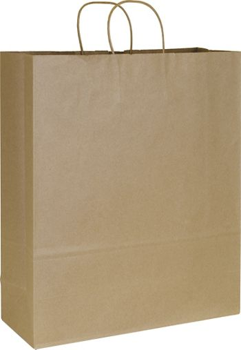 Kraft Paper Shoppers Queen, 16 x 6 x 19