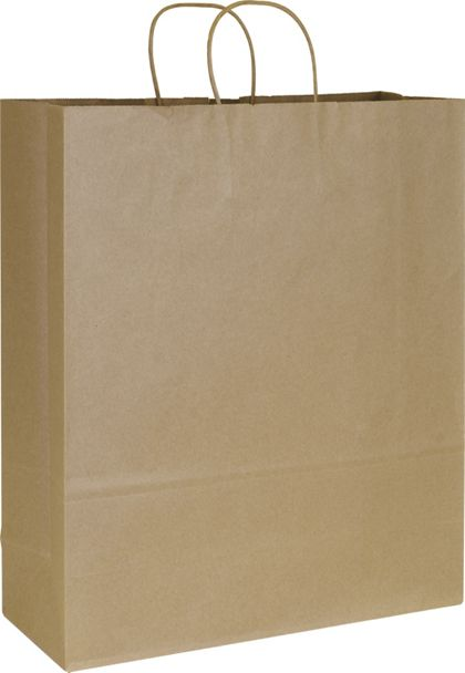 Kraft Paper Shoppers Queen, 16 x 6 x 19""