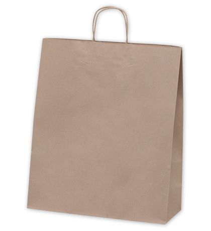 Recycled Kraft Paper Shoppers Queen, 16 x 6 x 19""