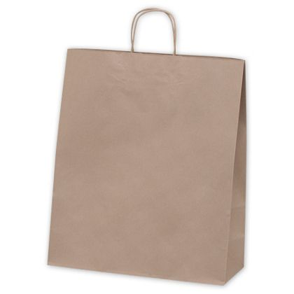 Recycled Kraft Paper Shoppers Queen, 16 x 6 x 19