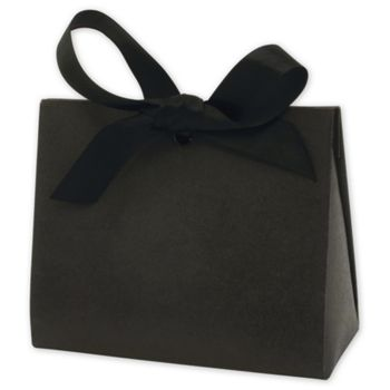 Black Kraft Purse Style Gift Card Holders, 4 1/2x2x3 3/4