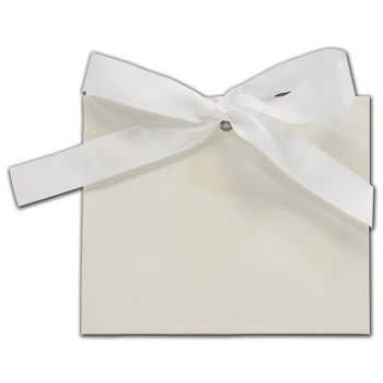 White Gloss Purse Style Gift Card Holders, 4 1/2x2x3 3/4