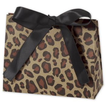 Leopard Purse Style Gift Card Holders, 4 1/2 x 2 x 3 3/4