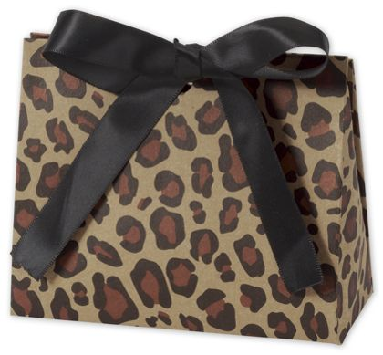 Leopard Purse Style Gift Card Holders, 4 1/2 x 2 x 3 3/4""