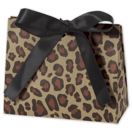 """Leopard Purse Style Gift Card Holders, 4 1/2 x 2 x 3 3/4"""""""