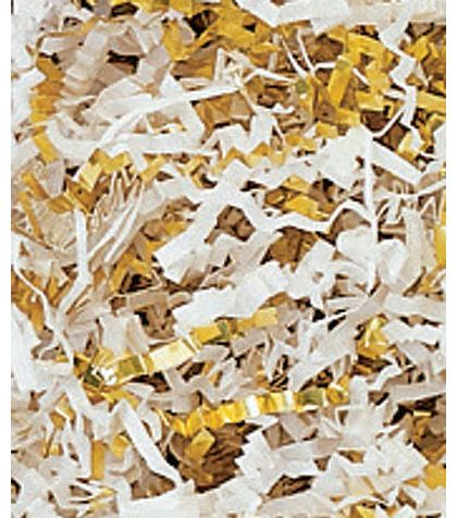 Gold & White Metallic Crinkle Cut Blend Fill