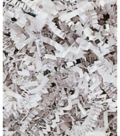 Silver & White Metallic Crinkle Cut Blend Fill