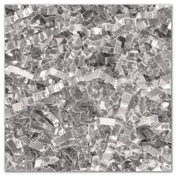 Silver PureMetallicTM Crinkle Cut Shred, 5 lb. Box