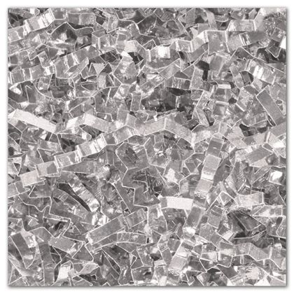 Silver PureMetallicTM Crinkle Cut Shred, 5 lb. Box