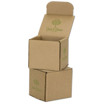 Kraft Mailers, 1 Color/Top Interior/2 Side Exterior, 4x4x4
