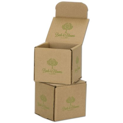 Kraft Mailers, 1 Color/Top Interior/4 Side Exterior, 4x4x4