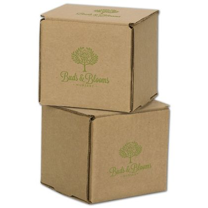 """Kraft Mailers, 1 Color/2 Sides Exterior, 4 x 4 x 4"""""""