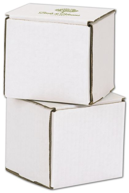 White Mailers, 1 Color/1 Side Exterior, 4 x 4 x 4""