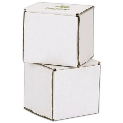 """White Mailers, 1 Color/1 Side Exterior, 4 x 4 x 4"""""""