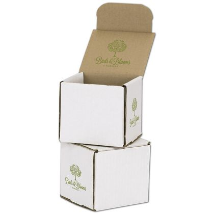 White Mailers, 1 Color/Top Interior/2 Side Exterior, 4x4x4