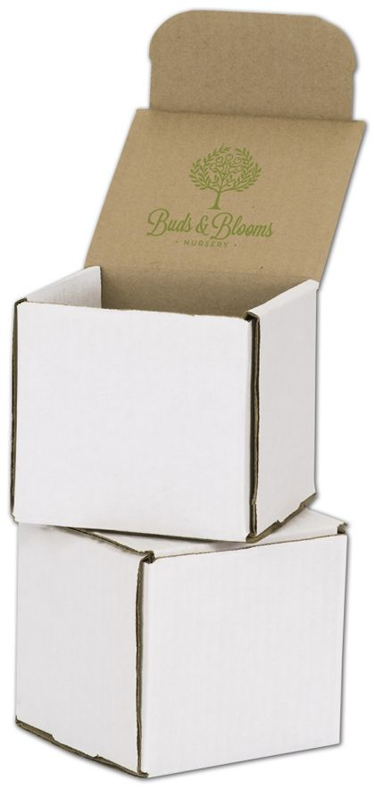 White Mailers, 1 Color/Top Interior Side, 4 x 4 x 4""