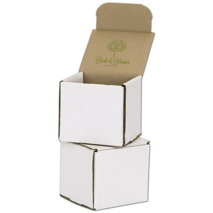 """White Mailers, 1 Color/Top Interior Side, 4 x 4 x 4"""""""