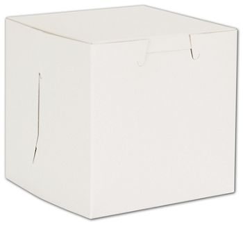 White No Window Bakery Boxes, 1 Piece, 4 x 4 x 4