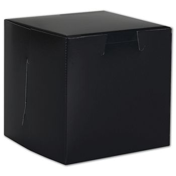Black No Window Bakery Boxes, 1 Piece, 4 x 4 x 4