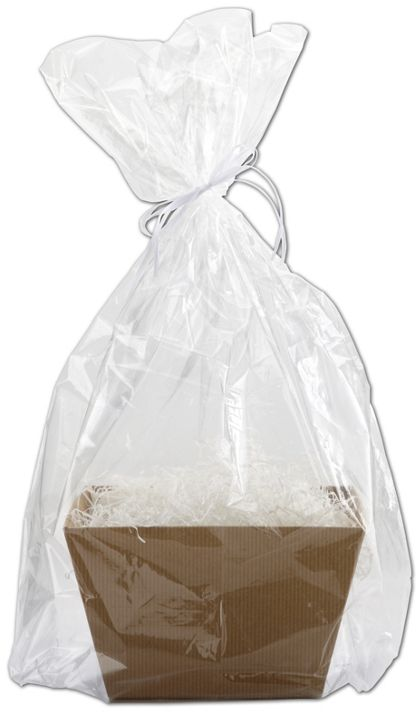 "Clear Basket Bags, 18 1/2 x 22"" + 5"" Bottom Gusset"