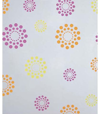 "Blooming Dots Polypropylene Film Rolls, 30"" x 100'"