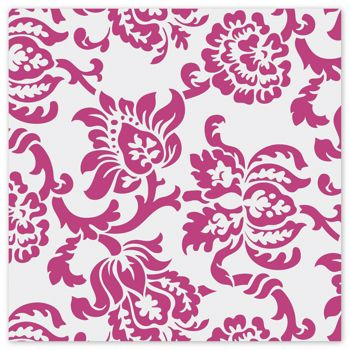 Hot Pink Damask Polypropylene Film Rolls, 30