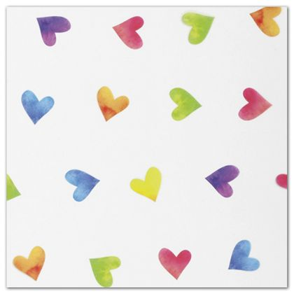 "Rainbow Hearts Polypropylene Film Rolls, 30"" x 100'"