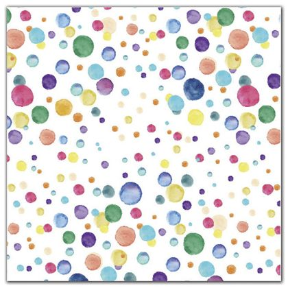 "Watercolor Confetti Polypropylene Film Rolls, 30"" x 100'"