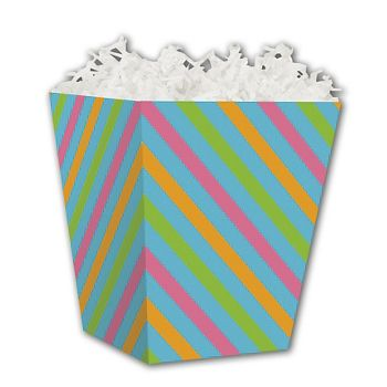 Angled Stripes Sweet Treat Boxes, 4 x 4 x 4 1/2""