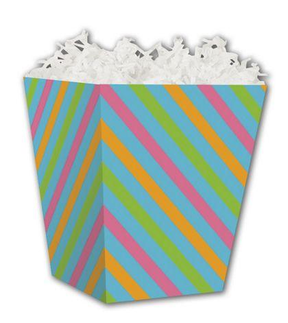 "Angled Stripes Sweet Treat Boxes, 4 x 4 x 4 1/2"""