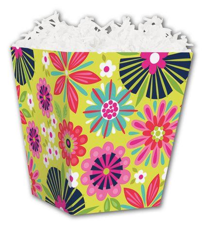"Bountiful Blooms Sweet Treat Boxes, 4 x 4 x 4 1/2"""