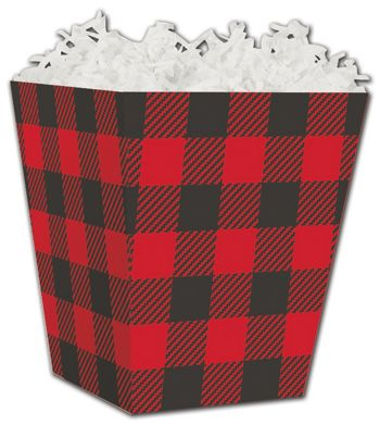 Buffalo Plaid Sweet Treat Boxes, 4 x 4 x 4 1/2