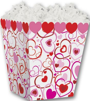Hearts Big and Small Sweet Treat Boxes, 4 x 4 x 4 1/2