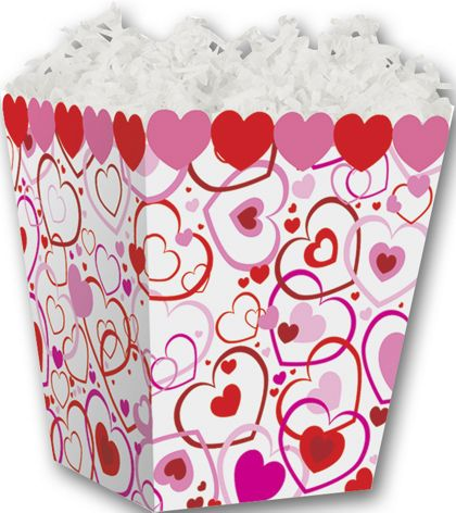 Hearts Big and Small Sweet Treat Boxes, 4 x 4 x 4 1/2""