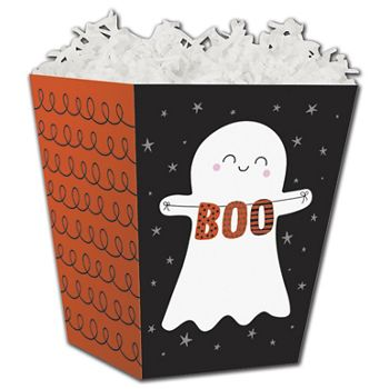 Halloween Boo Sweet Treat Boxes, 4 x 4 x 4 1/2