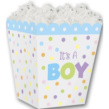 It's a Boy Sweet Treat Boxes, 4 x 4 x 4 1/2