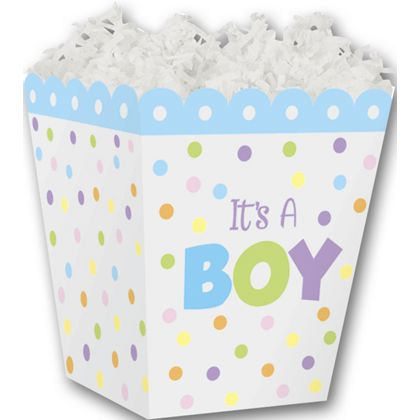 It's a Boy Sweet Treat Boxes, 4 x 4 x 4 1/2""